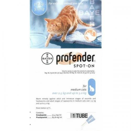 Profender Feline  2.6 -5kg per vial <br> $15.15